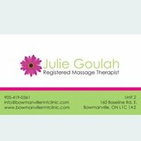 Julie Goulah, Registered Massage Therapist