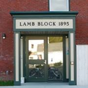 The Historic Lamb Block in downtown Livermore Falls, Maine