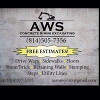AWS concrete & mini excavation   owner - aaron smith
