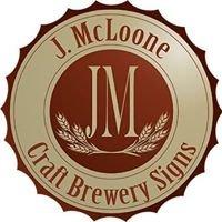 J. McLoone Craft Brewery Signs
