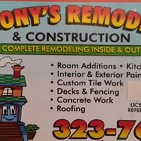 Anthonys Remodeling and Construction