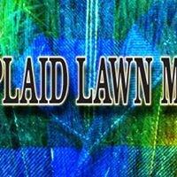 Blue Plaid Lawn Mowing