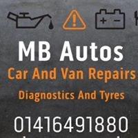 MB Autos car/van repairs tyres and diagnostics Glasgow