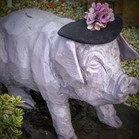 Vintage Purple Pig