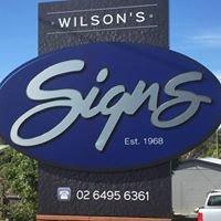 Wilson's Signs