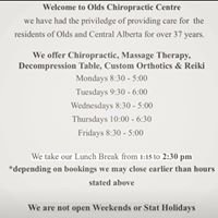 Olds Chiropractic Centre