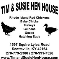 Tim and Susie Hen House - Special Events