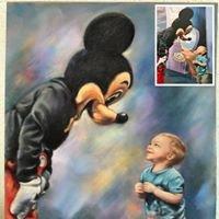 Disney's Yacht and Beach portrait artist