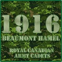 1916 Beaumont Hamel Royal Canadian Army Cadets