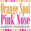 Orange Spot, Pink Nose