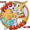Pips and Beans pet caricatures