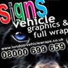 Vehicle Wraps, Car Graphics, Van signs