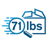 71 lbs - Human-Backed Automated Shipping Refunds