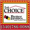1st Choice Better Homes & Land, LC - Fredericksburg Area Real Estate