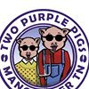 Two Purple Pigs