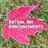 Antrim, NH Announcements