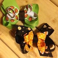 Elephants on Parade - handmade hair bows & clips for your little peanut
