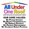 All Under One Roof  LGBT Advocates of Southeastern Idaho Inc.