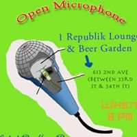 Open Microphone at 1 Republik Lounge and Beer Garden