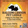 Balcom Canyon Pet Lodge