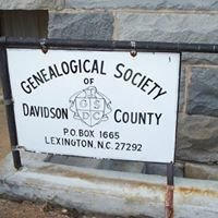 Genealogical Society of Davidson County NC