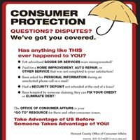 Office of Consumer Protection, Dept. of Community Resources and Services