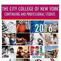 Continuing and Professional Studies at CCNY