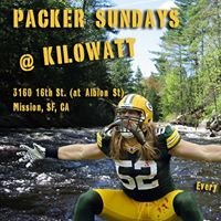 Green Bay Packer Sundays at Kilowatt