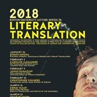 Boston University Literary Translation Seminar