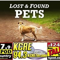 KCRE & KPOD's Lost and Found Pet Report
