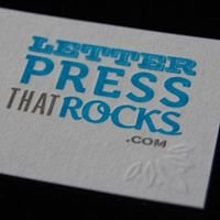Letterpress that Rocks