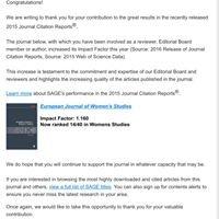 European Journal of Women's Studies