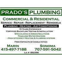 Prado's Plumbing, Radiant Heating and Air