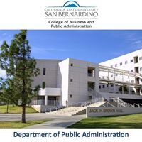CSUSB Public Administration