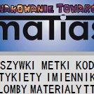 maTias - wszywki etykiety imienniki
