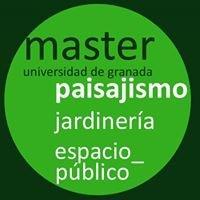 Máster en paisajismo, jardinería y espacio público. Granada