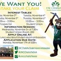 UNC Charlotte Student Alumni Ambassadors