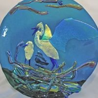 Blue Heron Glass Art