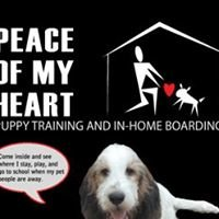 Peace of My Heart, Puppy Training & In-home Boarding