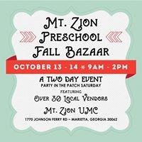Mt. Zion UMC Preschool Bazaar