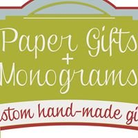 Paper Gifts & Monograms