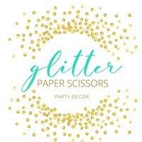 Glitter Paper Scissors