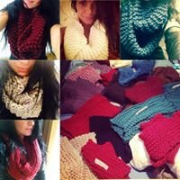 Hand knitted snoods by Missamywray