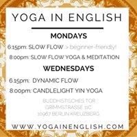 Yoga in English: Mondays & Wednesdays in Kreuzberg