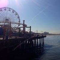 Santa Monica Beach and Pier, Santa Monica, California