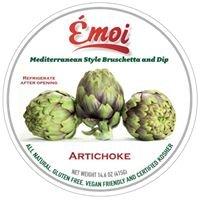 Émoi Bruschetta's, Dips, Grilled Artichokes And Gazpacho