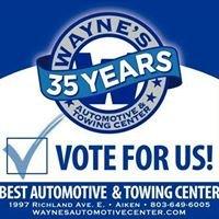 Wayne's Automotive Center, Inc.