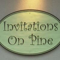 Invitations on Pine