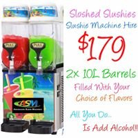 Sloshed Slushies - Slushie Machine Hire