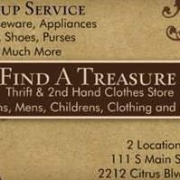 Find a Treasure Thrift & 2nd Hand Clothes Store